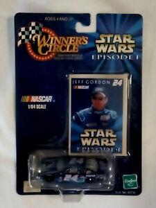 1999 WINNING CIRCLE JEFF GORDON STAR WARS EPISODE 1 CAR #24 WITH CARD 1/64 SCALE