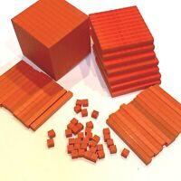 80 Piece Set ELEARNING Place Value Building Base Ten Blocks Math Manipulatives