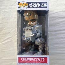 CHEWBACCA WITH AT-ST Funko Pop Star Wars #236 Deluxe Vinyl Bobble Head NIB