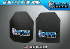 Body Armor AR500 Level 3 Set Of Plates Curved 10x12 Swim/Sapi FREE 2DAY SHIPPING