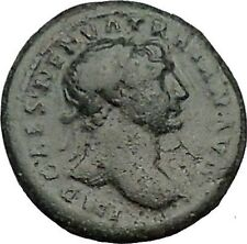 "TRAJAN 98AD RARE She Wolf ""Mother"" to Romulus & Remus Ancient Roman Coin i51072"