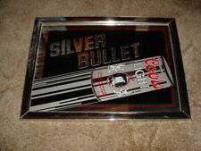 Vintage 1983 Adolph Coors Silver Bullet Flying Beer Can Mirror Sign Bar Man Cave