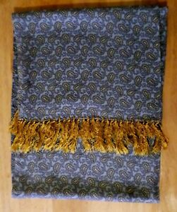 TOOTAL Retro PAISLEY Mens SCARF Scooter DAPPER Indie MOD Ascot Goodwood BLUE