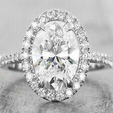 Charming 1.50 Ct. Oval Cut Diamond Engagement Ring F, VS1 GIA Certified