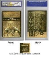 WILT CHAMBERLAIN 1961-62 Fleer ROOKIE 23KT Gold Card Sculpted Graded GEM MINT 10