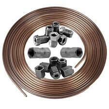 "COPPER nichel Kunifer condotta del freno 3/16 "" 25FT ROLL 3/8"" MASCHIO FEMMINA InLine termina"