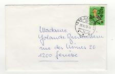 Suisse Helvetia 1 timbre sur lettre 1970 tampon Cartigny / L477
