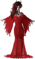 Ladies Red Devils Mistress Seductress Vampiress Halloween Fancy Dress Size 8-10