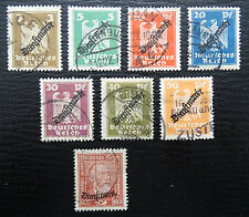Deutsches Reich Dienst 105-113 , Gestempelt , Unvollständig