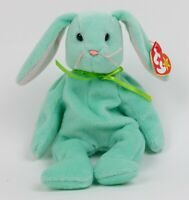 1996 Ty Beanie Babies HIPPITY Mint Green Spring Easter Bunny Plush Toy MWMT