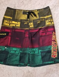 Mens Hurley Colorful Swim Trunks 36