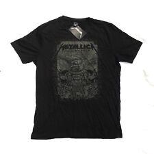 New Metallica Black Album Mens T Shirt XL Cotton Heavy Metal Band Tee BNWT