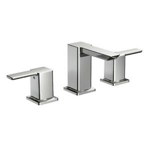 Moen TS6720 Chrome 90 Deg 2-Handle Bathroom Faucet Trim Kit & 9000 Valve Kit NIB