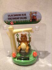 Solar Dashboard Windowsill Desktop Happy Swinging Bear Nip