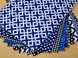 Patterned Soft Craft Felt Assortment Pack - Blues