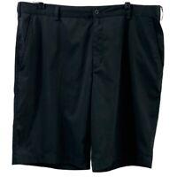 Nike Golf Mens Shorts Black Pockets Dri-Fit Stretch Flat Front 38
