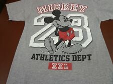 Disney Adult T-Shirt Mickey Mouse 28 Athletics Dept Gray    A8