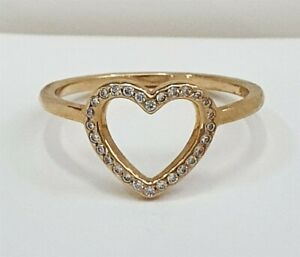 Authentic Pandora Solid 14k Gold Captured Heart Ring 150179CZ