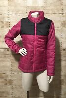 Magellan Puffer Jacket Women's Size Small Pink Black Full Zip 2 Pockets