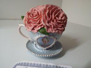 109 Princess Diana  Royal Tea Collection Figurine Hamilton Collection COA
