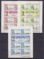 1981 Royal Wedding Charles & Diana MNH Stamp Sheetlets St Vincent