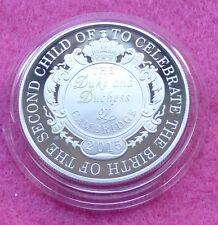 2015 nascita Reale la Principessa CHARLOTTE ARGENTO PROOF cinque Pound MEDAGLIA BOX + COA