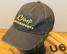 CAMP MOTORSPORTS CARS KARTS RACING HAT BLACK ADJUSTABLE YOUTH SIZE GOOD CONDI