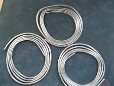 """Lead H Came round side 3/16th"""" x 5/32nds"""" 3 six foot coils for stained glass 18'"""
