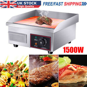 Electric Griddle Commercial Kitchen Hot plate Countertop BBQ Grill Bacon Fryer
