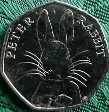 50p Coin 2016 Peter Rabbit Fifty Pence. Uncirculated Coin. DESIRABLE. COIN HUNT.