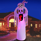 DomKom 10 FT Halloween Inflatable Decorations Giant Terrible Spooky Ghost, Outdo