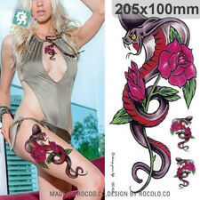 Body Art Waterproof Temporary Tattoo Sticker for Women Sexy Personality Piton