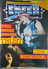 ENFER MAGAZINE:N.21-TRUST-METALLICA-FIRM-UFO-STOOGES-EXODUS-SLAYER