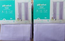 "New Lot of (2) Pillowfort Lavender Twill Blackout Curtain Window Panel 42"" x 84"""