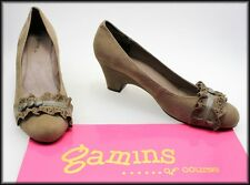 GAMINS OF COURSE WOMEN'S FASHION BROWN SUEDE SHOES SIZE 8.5 AUST 40 EURO NEW