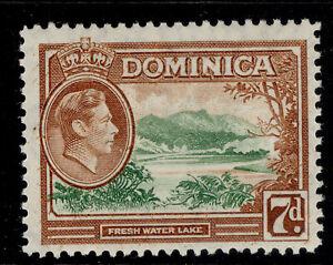 DOMINICA GVI SG105a, 7d green & yellow-brown, LH MINT.