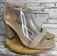 Madden Girl Beella Dress Sandals Womens Size 10 Blush Faux Suede Open Toe