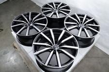 "18"" Wheels Ford Mustang Accord Civic CrV Pilot Is250 Camry Rav4 Black Rims 5 Lug"