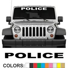 Police Windshield Decal Sticker Turbo Car Truck Diesel Race Atv Cop Officer Law