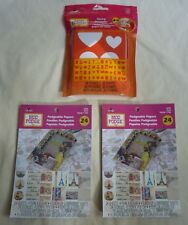 Lot of 3 Mod Podge: Tracing Templates stencils, 2 packs podgeable papers travel