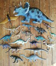 Dinosaur Figures Bundle Huge Triceratops + Patosaurus Diplodocus Stegosaurus etc