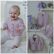 Knitting Pattern Baby easyknit à manches longues Cardigans & gilet DK kingcole 4903