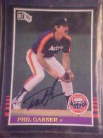 PHIL GARNER ORIG SIGNED AUTOGRAPH 1985 DONRUSS # 161- ASTROS INFIELDER! -SS8UXX