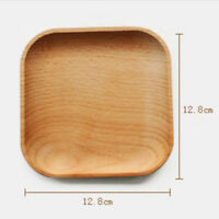 Wooden Square Plate Food Fruit Dish Snack Serving Tray Salad Bowl Platter