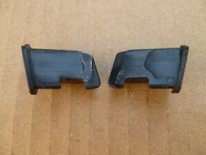 88-91 Honda Crx OEM rear hatch  window glass lower molding end caps pair