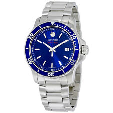 Movado Series 800 Blue Dial Stainless Steel Mens Watch 2600137