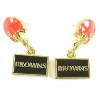 NFL Football Cleveland Browns Gold Earrings