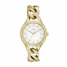 DKNY Women's Chambers NY2217 White Dial Gold Stainless Steel Bracelet Watch