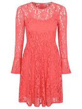 BNWT Ladies Longsleeve coral lace dress size uk 16