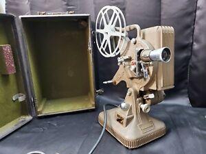 Working Vintage Keystone Model K-160 16mm Art Deco Movie Projector In Case